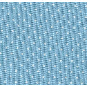 White on Sky Blue Macclesfield Print Pin Dot Silk Pocket Square #MCPDP-29