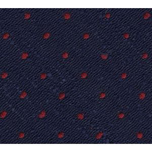 Dark Red on Midnight Blue Shantung Pin Dot Silk Pocket Square #SHPDP-3