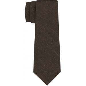 Chocolate Shantung Solid Silk Tie #SHSOT-10