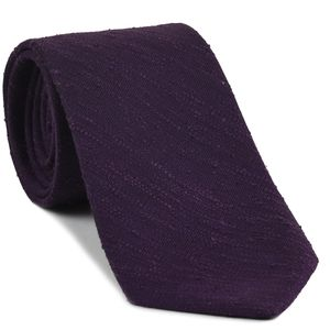 Purple Shantung Solid Silk Tie #SHSOT-9