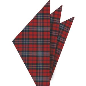 Mc Lean Tartan Cotton Pocket square #1