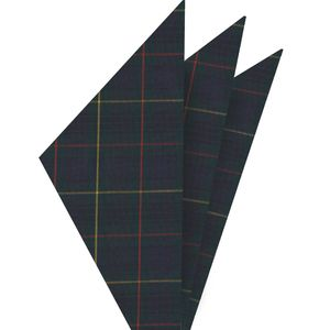 Stewart Hunting Tartan Cotton Pocket Square #TACP-5