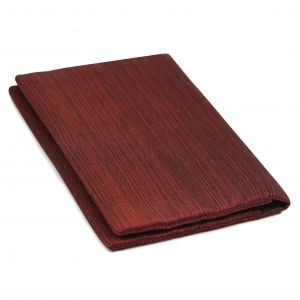 Dark Red & Black Thai Saiphone Silk Wallet with Currency Folds #TSACW-10