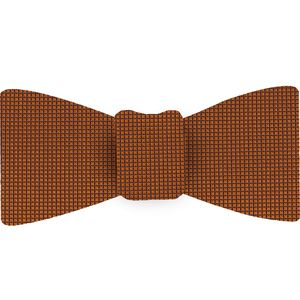 Burnt Orange Oxford Weave Silk Tie #19