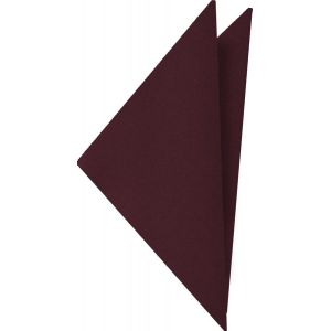 Burgundy Satin Silk Pocket Square