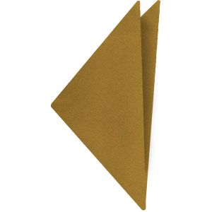 Burnt Gold Satin Silk Pocket Square #12