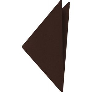 Chocolate Satin Silk Pocket Square