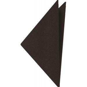 Dark Chocolate Satin Silk Pocket Square