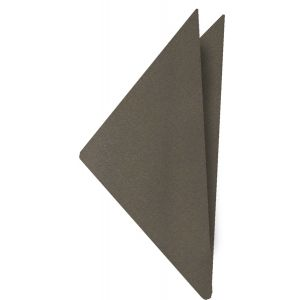 Gray With Brown Satin Silk Pocket Square #2