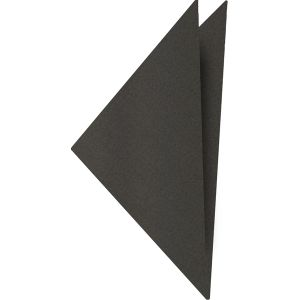 Dark Charcoal Gray Satin Silk Pocket Square #4