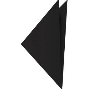 Black Satin Silk Pocket Square