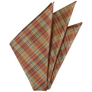 Sangdao Plaid Thai Silk Pocket Square #32