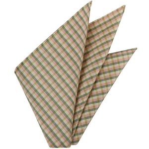 Sangdao Plaid Thai Silk Pocket Square