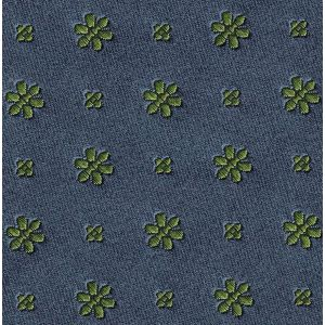 Young Leaf Green on Charcoal Gray Classic Flower Silk Pocket Square #FFFP-4