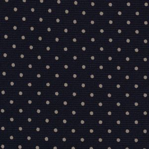 Off-White on Midnight Blue Macclesfield Print Silk Pocket Square #MCPDP-26