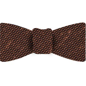 Burnt Orange Shantung Grenadine Fina Silk Bow Tie #SHFBT-14
