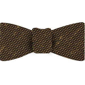 Yellow Gold Shantung Grenadine Fina Silk Bow Tie #SHFBT-15