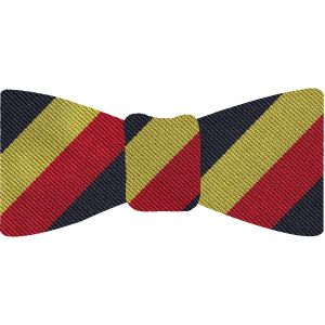 15th-19th King's Royal Hussars Silk Bow Tie #RGB-62