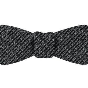 Charcoal Gray Shantung Grenadine Grossa Silk Bow Tie #SHGBT-12