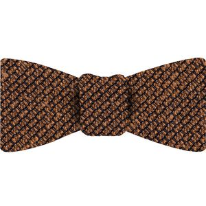 Burnt Orange Shantung Grenadine Grossa Silk Bow Tie #SHGBT-14