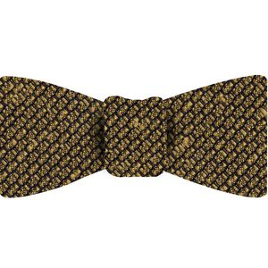 Yellow Gold Shantung Grenadine Grossa Silk Bow Tie #SHGBT-15