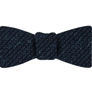 Dark Navy Blue Shantung Grenadine Grossa Silk Bow Tie #SHGBT-2