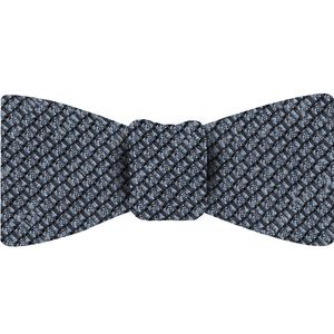Powder Blue Shantung Grenadine Grossa Silk Bow Tie #SHGBT-5