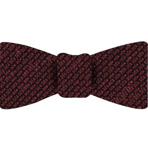 Red Shantung Grenadine Grossa Silk Bow Tie #SHGBT-7
