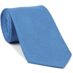 Light Oxford Blue Grenadine Fina Silk Tie #GFT-36