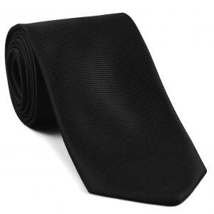 Black Large Twill Silk Tie #LTWT-10