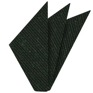 Dark Olive Green Shantung Grenadine Grossa Silk Pocket Square #SHGP-10