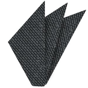 Charcoal Gray Shantung Grenadine Grossa Silk Pocket Square #SHGP-12