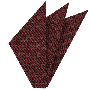 Brick Shantung Grenadine Grossa Silk Pocket Square #SHGP-13