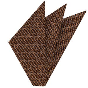 Burnt Orange Shantung Grenadine Grossa Silk Pocket Square #SHGP-14