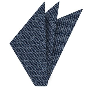 Sky Blue Shantung Grenadine Grossa Silk Pocket Square #SHGP-4