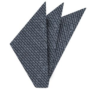 Powder Blue Shantung Grenadine Grossa Silk Pocket Square #SHGP-5