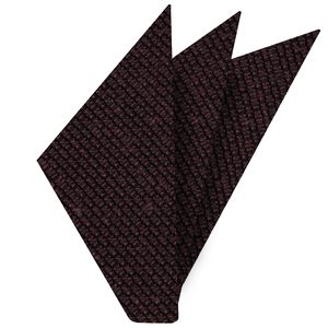 Burgundy Shantung Grenadine Grossa Silk Pocket Square #SHGP-6