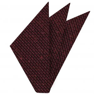 Red Shantung Grenadine Grossa Silk Pocket Square #SHGP-7