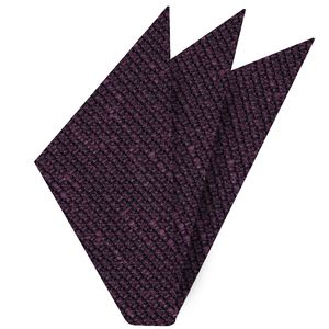 Purple Shantung Grenadine Grossa Silk Pocket Square #SHGP-8