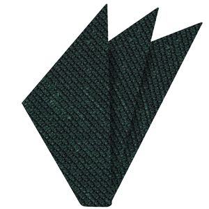 Forest Green Shantung Grenadine Grossa Silk Pocket Square #SHGP-9