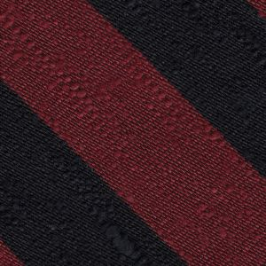 Dark Red & Black Shantung Wide Stripe Silk Pocket Square #SHBSP-4