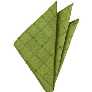 Lime Green Thai Silk Pocket Square #VPS-13