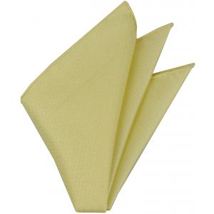 Light Yellow Thai Brocade Silk Pocket Square #VPS-1