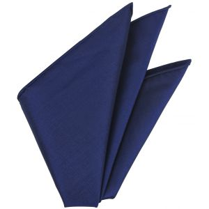 Navy Blue Thai Silk Pocket Square #VPS-8
