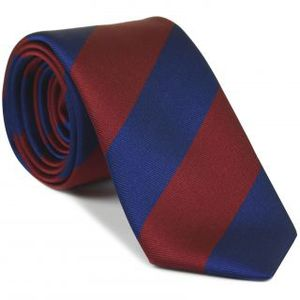 University of Pennsylvania Silk Tie #ACO-7 (Dark Red & Blue)