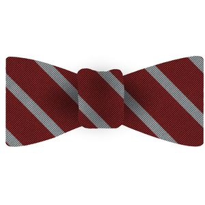Stanford Silk Bow Tie #ACOBT-18 (Cardinal & Silver/White)