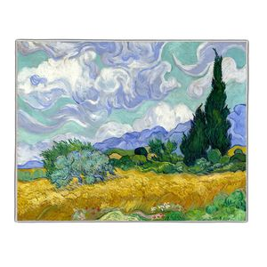 Wheat Field with Cypresses - Vincent Van Gogh Pocket Rectangle #ARTR-19B