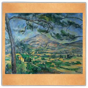 Mont Sainte, Victoire - Paul Cezanne Pocket Square #ARTP-20A