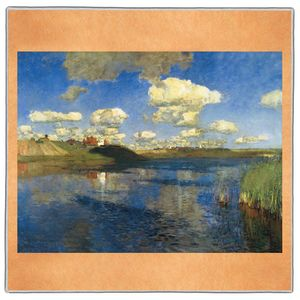 Lake - Isaac Levitan Pocket Square #ARTP-22A