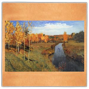 Golden Autumn - Isaac Levitan Pocket Square #ARTP-23A